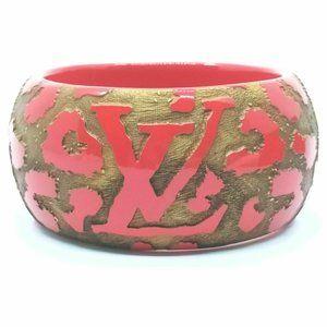 Auth Louis Vuitton Bangle Red #19144L23B